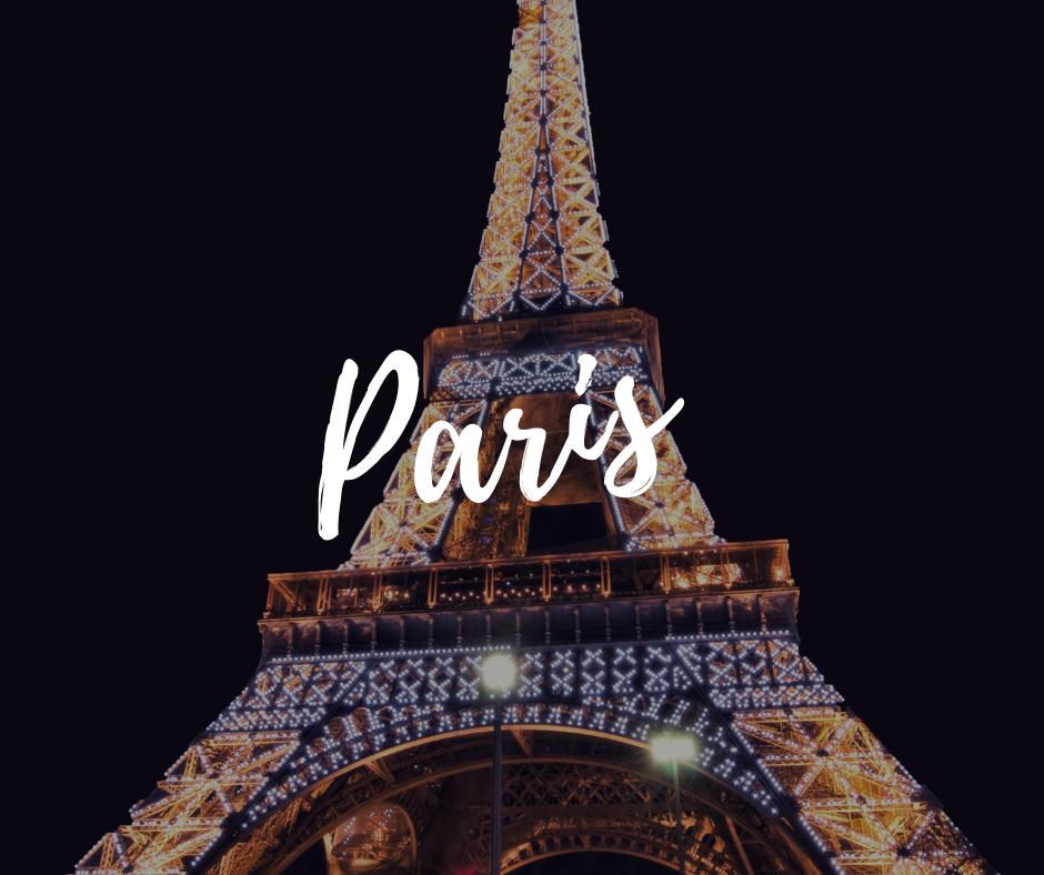 Paris at night time