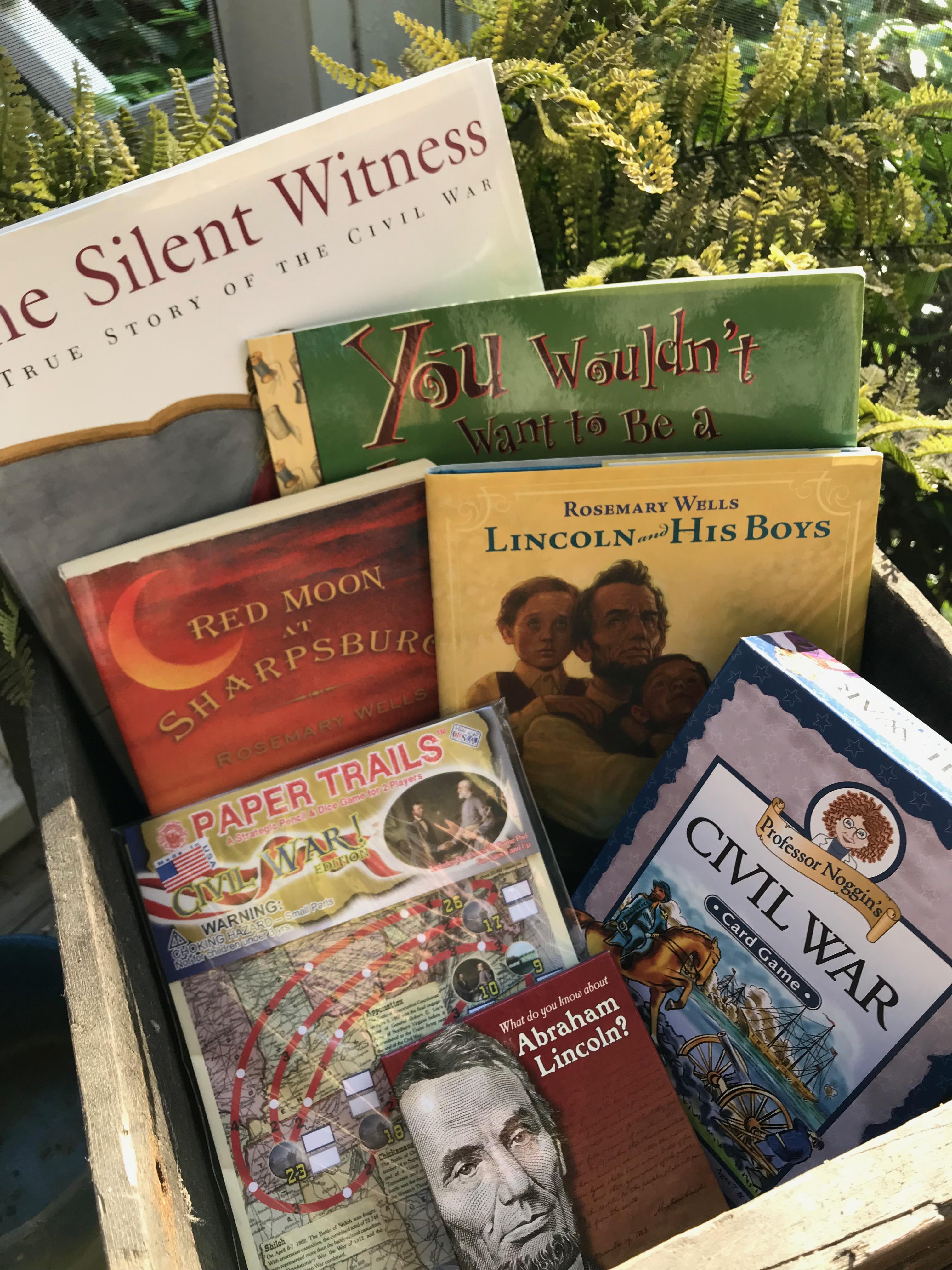 Books and games that teach the Civil War