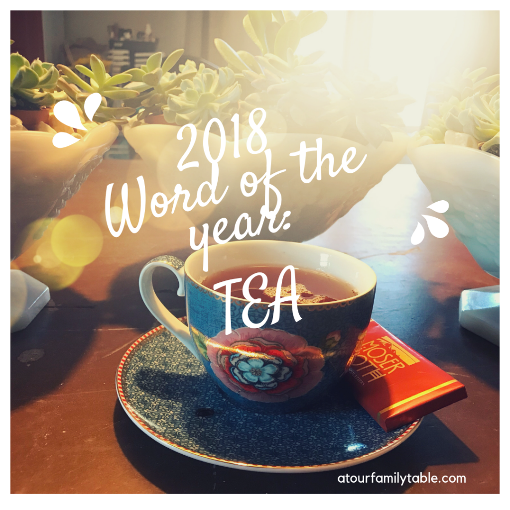 2018 word of the year tea