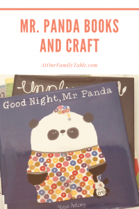 Mr Panda book and craft