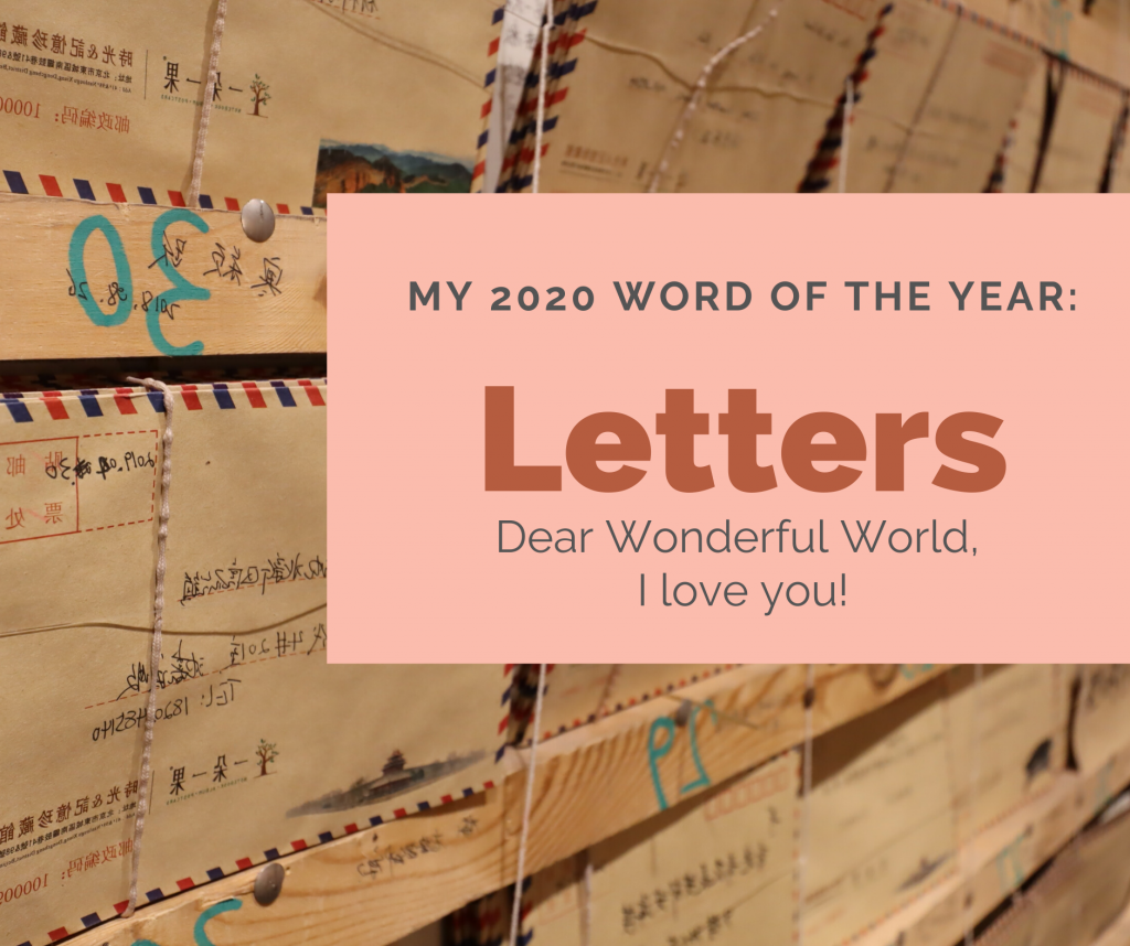 2020 word of the year:letters
